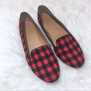 J. Crew Cora Buffalo Plaid Check Loafer Size 7